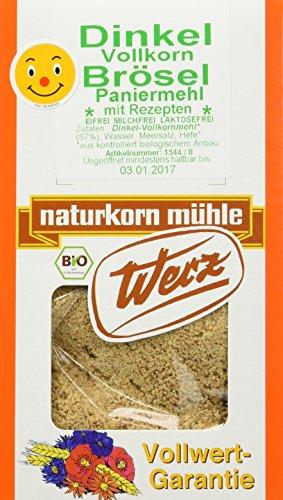 Werz Dinkel-Vollkorn-Brösel, 4er Pack (4 x 200 g Packung) - Bio
