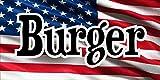 Publicidad de la bandera - lona - hamburguesa - 1 x 0,5 M