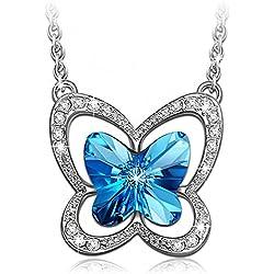 LADY COLOUR - Mariposa - Collar mujer con cristales de SWAROVSKI® - la colección Nature