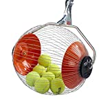 K-MAX - 60 Ball Tennisballsammler, Tennisballpickel, Tennisschläger und Tennistrainer | Kollectaball - Das schnellste Tenniszubehör für die Auswahl von Tennisbällen