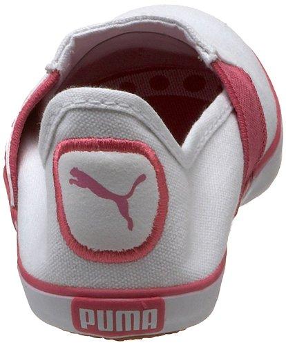 Puma Lazy J Slip On Jr Synthétique Mocassin White-Shocking Pink