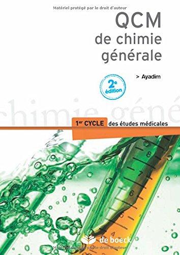 Qcm de chimie générale 1er cycle des études médicales