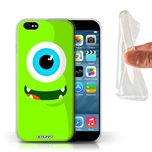 Stuff4 Gel TPU Hülle / Case für Apple iPhone X/10 / Grün Muster / Monster Kollektion Grün