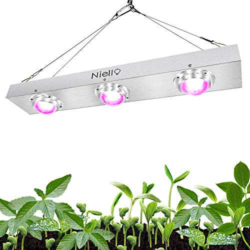 Niello 600w COB LED Pflanzenlampe Full Spectrum LED Grow Light High Par and High Lumen Growing, Cooling Stronger Heat Dissipation Plant Light for Hydroponics Greenhouse Indoor Plant Veg and Flower -