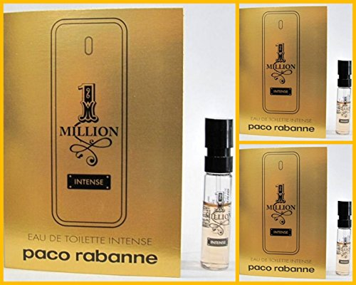 Paco Rabanne 1 MILLION INTENSE Eau de Toilette Intense Samples (3 vials)