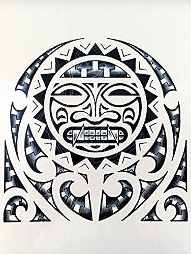 MÄNNER TRIBAL TATTOO SCHWARZ wx114 Oberarm Tattoo Aufkleber Maori und Tribal Motiv
