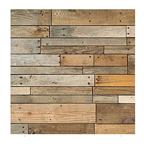 CAOXN Schälen Und Kleben Wandfliesen Aufkleber Selbstklebende PVC Plank Holz Muster Vinyl Bodenbelag DIY Küche Bad Home Decal 30 × 30cm, 5 STK -