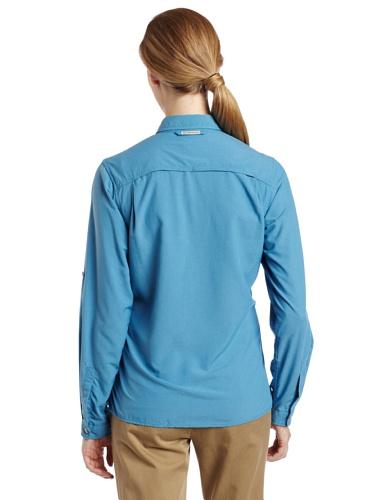 exofficio Damen dryflylite Stripe Long Sleeve Shirt Baltic