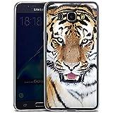 Samsung Galaxy J7 (2016) Slim Case Silikon Hülle Schutzhülle Tiger Raubkatze Großkatze