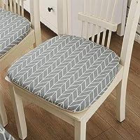 Forestwood Cojín Cuadrado Suave con diseño Seat Cushion Cojín Cuadrado para Silla De Oficina En Algodón Azul Claro para Asiento De Coche, Plano, Acolchado para Sillas De Oficina Cojín Cuadrado