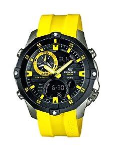 Reloj Casio EMA-100B-1A9VUEF y digital de cuarzo para hombre con correa de resina, color amarillo de Casio