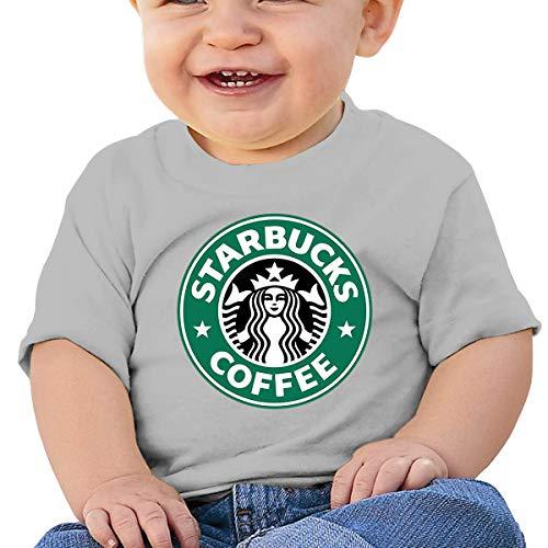 Jungen Sommer T-Shirt Starbucks Logo T Shirt Shirts Für Kleinkind Mädchen Jungen Kurzhülse Grau 12 Mt ()