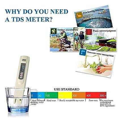 Yakamoz LCD Digital TDS-3 Meter Temp PPM Tester Pen for Testing Water Quality 5