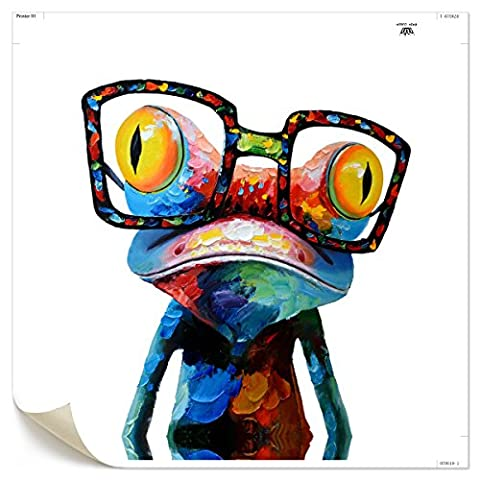 UNIQUEBELLA Abstract Colors Frog painting printed on Canvas, Art Pictures Poster print painting for Home kids room decoration for Home Decoration (No Frame,unmounted), 1 pc/set 50*50cm*1