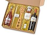 Fattoria San Vincenzo italienischer Geschenkkorb Grande Festa – Gourmet Spezialitäten – Delikatessen Geschenk Set mit Pasta, Sugo, Prosecco und Rotwein aus Italien