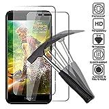 2 x Huawei Honor 6C Pro Verre trempé protecteur d'écran, EJBOTH téléphone protection écran haute définition cribler des films protecteurs pour Huawei Honor 6C Pro - ultra-résistant avec une dureté 9H Anti-bulle.
