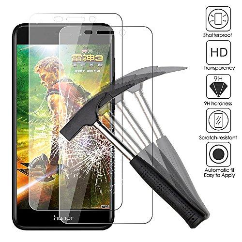 2x huawei honor 6c pro pellicola protettiva, ejboth premium vetro temperato proteggi schermo telefono cristallo trasparente invisibile scudo protezione di display cellulare - ultra resistente anti-bolla alta definizione