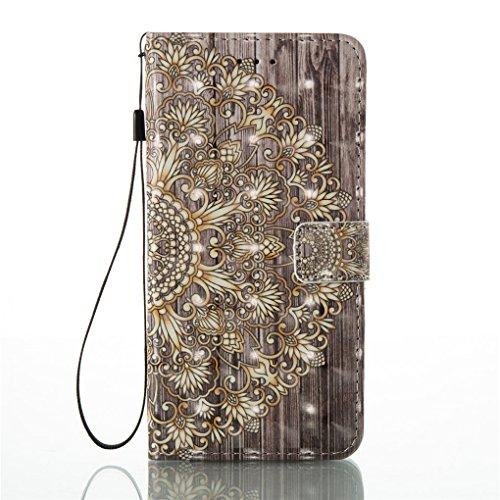 iPhone 7 Plus / 8 Plus Hülle, SATURCASE Schönes 3D Muster PU Lederhülle Ledertasche Magnetverschluss Flip Cover Brieftasche Case Handy Tasche Schutzhülle Handyhülle Hülle mit Standfunktion Kartenfäche Muster-7