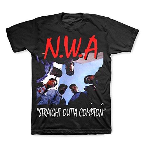 Pliuegy N.W.A (NWA) Straight Outta Compton Men's Black T-Shirt (S-4XL)