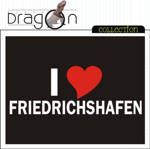 T-Shirt mit Städtenamen - i Love Friedrichshafen - Herren - unisex Schwarz