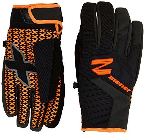 Ziener Herren Beno AS Glove Ski Alpine Winter, Poison Orange, Größe 7