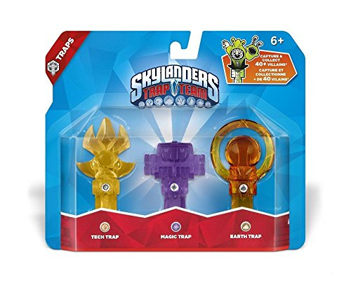 Skylanders: Trap Team - Pack 3. Trampas 1 (Scenter-Tech, Log Holder-Magia, Orb-Tierra)