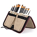 #8: Bianyo Artist Paint Brush Set in Zippered Beige Pouch