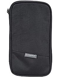 COSMUS Polyester Travel Passport Holder and Organizer (Black)