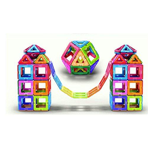 50PCS Stardard Magnetische Bausteine Ziegel Magnet Nachfüllung Kleinkind Lernspielzeug