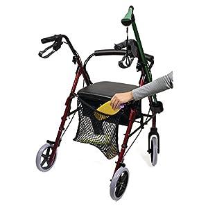 Eurosell – Premium Einkaufs Netz Trage Tasche für Rollator Gehwagen Gehhilfe/Rollstuhl / Kinderwagen