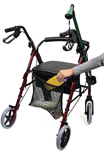 Eurosell - Premium Einkaufs Netz Trage Tasche für Rollator Gehwagen Gehhilfe / Rollstuhl / Kinderwagen
