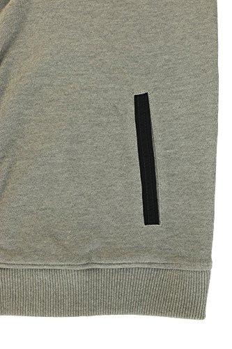 Modische Weste in Strick- Optik von Kitaro in Herren- Übergröße, grau Grau