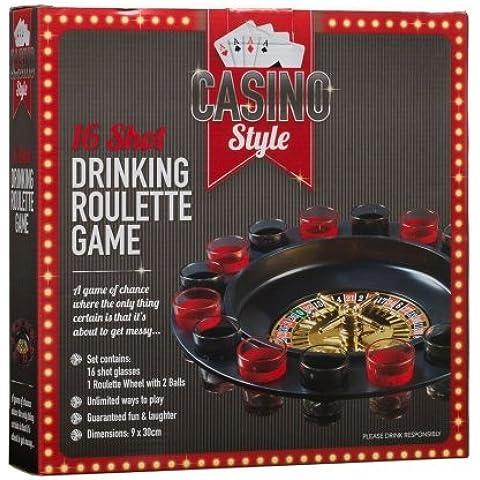 Partito Bere Roulette 16vetro Lucky Shot gioco regalo natalizio per Secret Santa