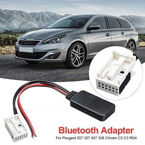 Yunt-11 Adaptateur de câble auxiliaire Bluetooth pour Voiture Cable Câble  Audio Bluetooth Compatible avec pour Peugeot 207 307 407 308 Citroen C2 C3