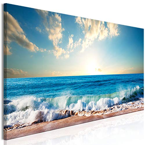 Murando Cuadro Lienzo Mar Playa 135x45 cm - 1 Parte