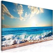 murando - Cuadro Mar Playa 135x45 cm - 1 Parte - impresión en Material Tejido no