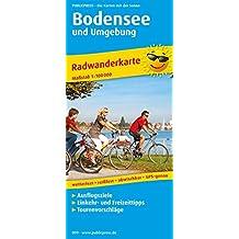 Bodensee und Umgebung: Radkarte mit Ausflugszielen, Einkehr- & Freizeittipps, wetterfest, reissfest, abwischbar, GPS-genau. 1:100000 (Radkarte / RK)