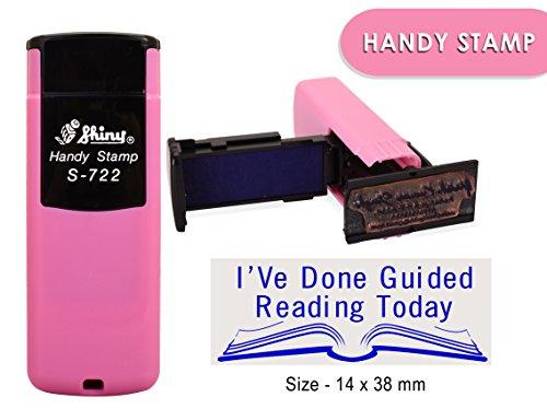 Auto inchiostrazione timbro di gomma lucida s-722personalizzato testo ufficio Stamper 14x 38mm 14 x 38 MM Blue Ink