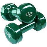TecTake Vinyl Hantelset Fitness Hanteln mit Rutschfester Oberfläche - Diverse Modelle - (4 kg | grün | Nr. 402361)