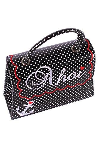 SugarShock Damen AHOI Anker rockabilly POLKA DOTS Handtasche retro Punkte Tasche -