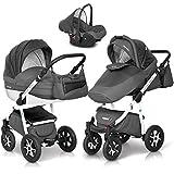 3in1 Kombi Kinderwagen Mondo Ecco Baby Leder Version Alu Tech