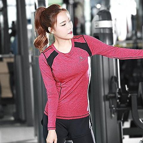 Autunno/inverno abbigliamento donna Yoga esercizio allenamento vestiti donne magro alto manica lunga spandex aerobica abbigliamento Yoga , blue , l