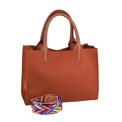 OBC Only-Beautiful-Couture, Borsa a spalla donna grigio Grau ca.: 32x24x12 cm (BxHxT) cognac