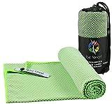 be fancy! Bambus Reisehandtuch Outdoor XL in Grün - Leicht, saugfähig, antibakteriell & schnelltrocknend - Das nachhaltige Mikrofaserhandtuch für Reise, Sport, Wandern, Camping