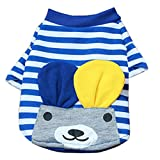 Generic Pet Puppy Small Striped Dog Cat Vest T-Shirt Summer Apparel Clothes Blue XL