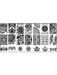 Susenstone 1PCS Nail Stempel, der Bild-Platten-Druck-Nagel-Kunst-Schablone DIY