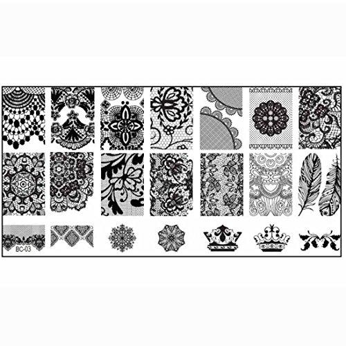 Susenstone 1PCS Nail Stempel, der Bild-Platten-Druck-Nagel-Kunst-Schablone DIY -