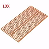 Bluelover 10Pcs 5X10Cm Single Side Copper Prototype Paper Pcb Breadboard 2-3-5 Joint Hole