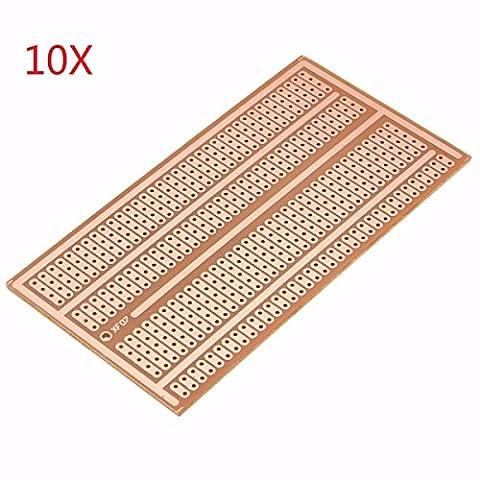Bluelover 10Pcs 5X10Cm Single Side Copper Prototype Paper Pcb Breadboard 2-3-5 Joint Hole