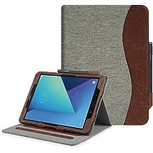 """Fintie Samsung Galaxy Tab S3 9.7 Funda, [Multi-Ángulo de Visualización] Slim Stand Case Plegable Smart Cover con Auto-Sueño / Estela para Samsung Galaxy Tab S3 9.7"""" Tablet, Denim Gray"""